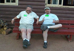 Director Carl and Instructor Robert relaxing after class at the Colorado YMCA
