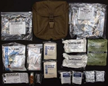 USMC IFAK Combat Medical Kit with Coyote Molle Case